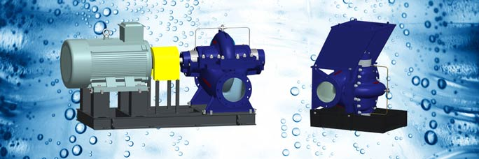 single stage axially split case double suction pump