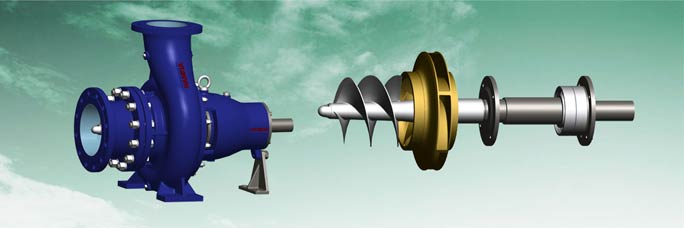 end suction pump with inducer impeller